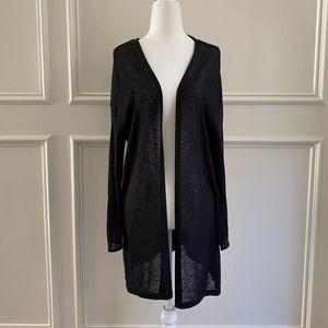 Gently worn lightweight black cardigan size medium